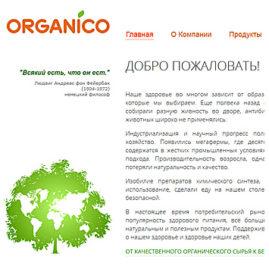 Сайт для компании Органико (2012)